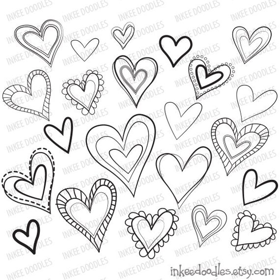 Heart Hands Drawing Hearts Love Cute Clipart Hand