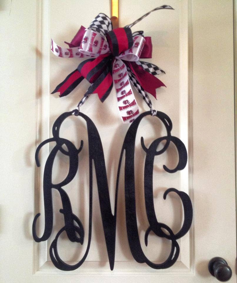 20 Inch 3 Letter Wooden Front Door Monogram By