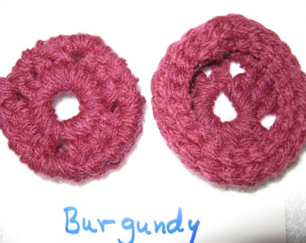 Burgundy  Ear Pads/Cushions/Cookies for Phone Headset, Call Center, Hand-made, NEW.