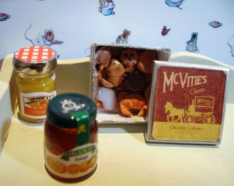 Mc Vities Style Biscuit Metal Tin Miniature for Dollhouse 1:12 scale