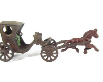 Antique carriage,metal carriage,antique toy,Cinderella,cast iron toy,1930s toy, vintage toy,