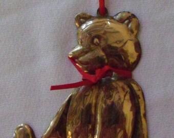 Brass Bear Ornament or Pendant
