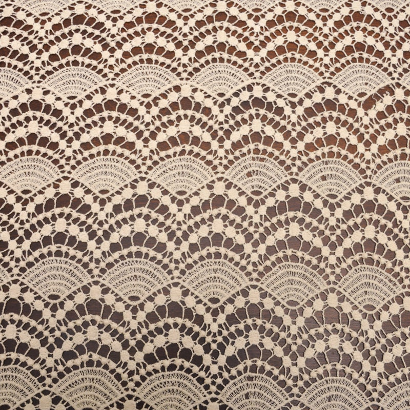 Tan cotton bold lace fabric by the yard cotton lace pattern for Cheap fabric by the yard