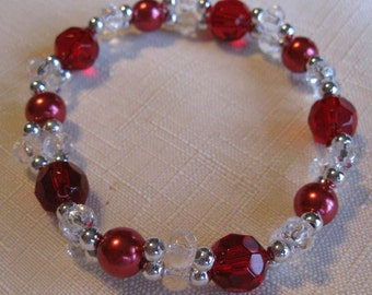 Beaded Bracelet Red Arm Candy