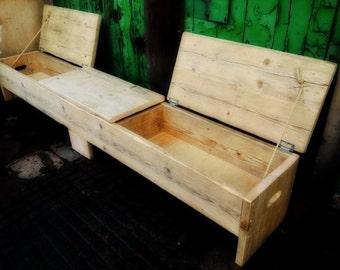 Super size triple storage bench!