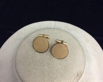 Vintage Gold Filled Engraveable Cuff Links