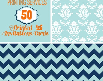 Printing Services for 50, 4X5 size invitation including envelopes