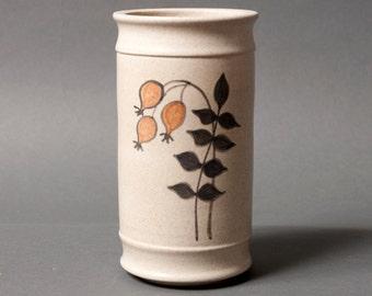 Kahler vase, Danish hak vase, Modern beige vase, Mid century vase, Gift for him, Danish Kahler vase, Stoneware vase, Scandinavian home gift