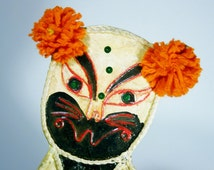 Mexican Paper Mache Cat Vintage Modern Craft Gemma Taccogna Era Mexico Large Format Marked