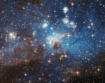 LH 95 stellar nursery in the Large Magellanic Cloud- Space, Starts, Galaxies   Photo Print