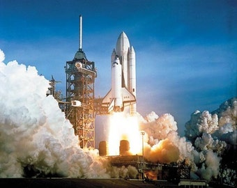 Photograph - First Space Shuttle Columbia Launch 1981 Photo Print