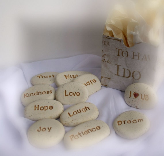 Wedding Gift Engraved Message : Personalized wedding gift message stones, MADE TO ORDER, ooak wedding ...