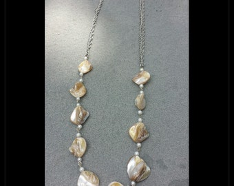 Beach Rock Pearl Long Necklace