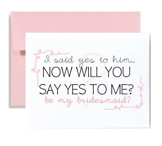 Asking Your Bridesmaids: Asking Bridesmaid Greeting Card Bridal Party Be My Bridesmaid