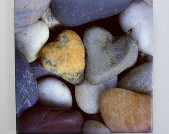 2 Heart Stone Tile Trivet