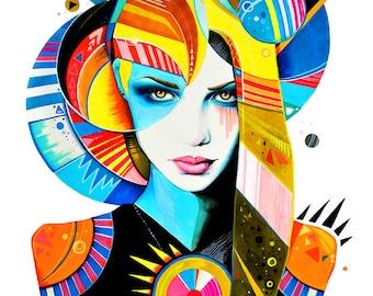 "Art Print ""Native Girl"""