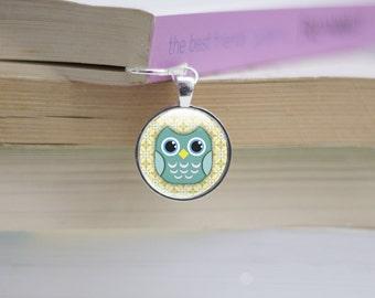Metal Bookmark - Owl Bookmark Metal - Owl Picture Metal and Glass Bookmark - Photo bookmark (owl 11)