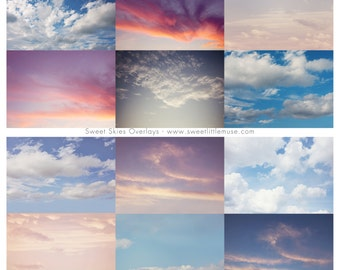 Sky overlay - skies overlay - sky overlay pack - photoshop skies - cloud overlay