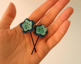 Blue rhapsody crochet hair pins
