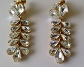 Vintage Napier Swarovski Earrings Wedding Party Hollywood Fashion