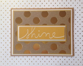 Shine Gold Polka Dot Card