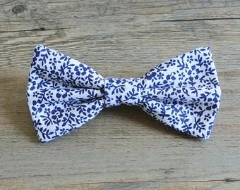 Paisley Bow Tie, Swirl, Paisley, Paisley Bow, Kid's Bow Tie, White and Navy Bow, Paisley Tie, Bow Tie, Swirl Bow, Mens Bow Tie