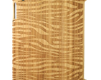 Natural Bamboo iPad 2,3,4 case, Zebra design, UK
