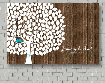 Rustic Wedding Guest Book - Rustic Guest Book Tree - Wedding Tree - Signatures Tree - Faux Wood Wedding Signs - Guestbook - Wedding Poster