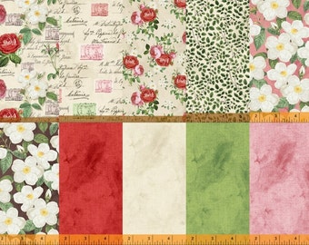 Fat Quarters (10)  from Ava by Whister Studios for Windham Fabrics