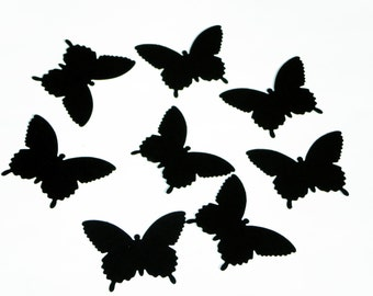 25 Large Black Paper Butterfly die cut punch scrapbook embellishments/ Martha Stewart