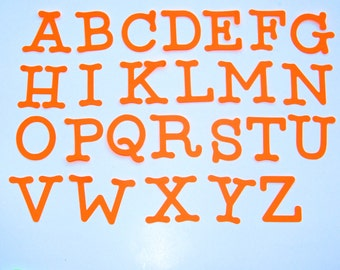 "Die Cut Letters, Uppercase alphabet letters, size from 1.5"" to 7"" tall,  set of 15Letters, many colors available"