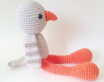 Pigeon Plush, Pigeon Stuffed Animal, Pigeon Plushie, Pigeon Stuffed Toy, Crochet Pigeon, Pigeon, Dove, Baby Dove, Baby Pigeon, Dove Plushie