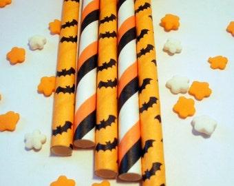 50 Bat Crazy - Halloween - Paper Straws