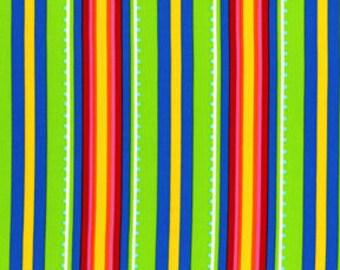 Michael Miller Garden Party  Gazebo Stripe Blue, By the Yard #251