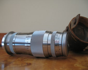 Canon Serenar F4 100mm Lens w/Leica Screw Mount and Leather Carrying Case