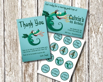 Dragon Birthday  PARTY PACK -  Printable and Personalised