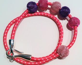 Pink Bungee Cord Bracelet