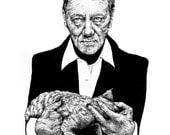 House of Cards Illustration of Frank Underwood