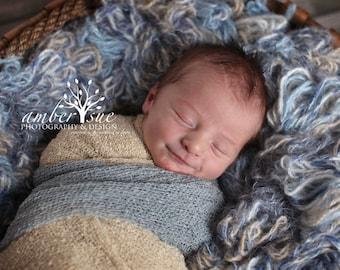 Newborn Wrap, Open Weave Knit Newborn Swaddle Wrap, Baby Wrap, Gorgeous Photo Prop, Stretch Knit, Fashion Scarf, baby blanket, silvergray