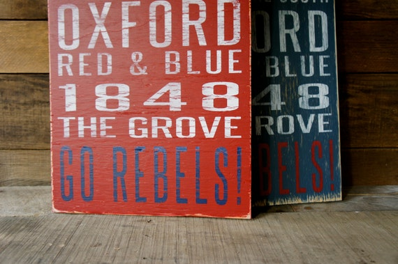Ole Miss Distressed Wood Sign--Great Father's Day Gift!