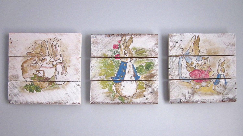 peter rabbit wallpaper nursery