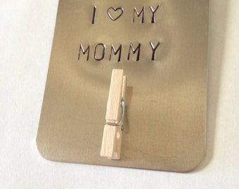 I love my mom, mommy, mama, madre magnet. Personalized magnet gift for mom