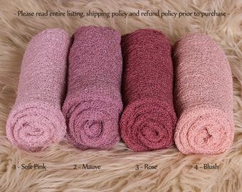 Newborn Stretch Knit Wrap - Photo Prop - PINKS