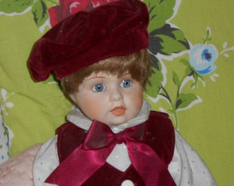 Reproduction Antique Boy doll. Charming doll in very good condition.