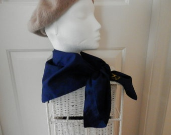 Navy Blue Vintage Headscarf from The Club Abu Dhabi