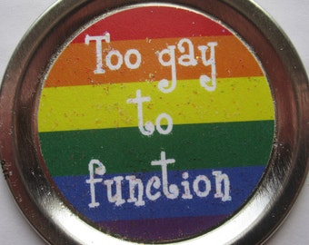 """Mean Girls Funny Magnet – Movie Quote: """"Too gay to function"""""""