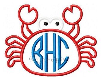 Crab 2 Machine Embroidery Design