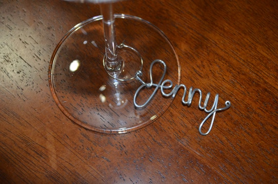 personalized name wine glass charms unique gift wine gift