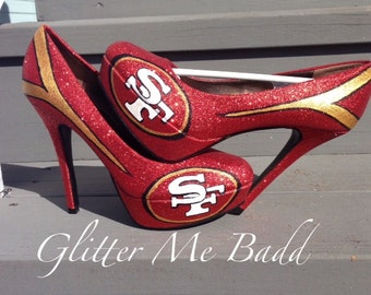 San Francisco inspired glitter High heel