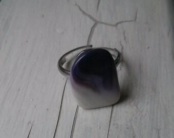 ON SALE Original price 8.99 - Vintage Collection -  Agathe stone adjustable ring